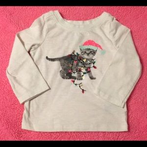 🇺🇸3 for $10🗽 Cat & Jack kitty knit top -tangled